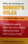 Note's and Comments on ROBERT's RULES
